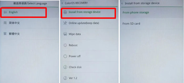 Update Software Oppo via Recovery