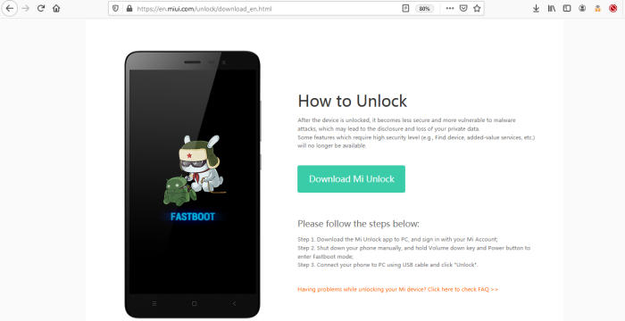 Download Mi Unlock Xiaomi
