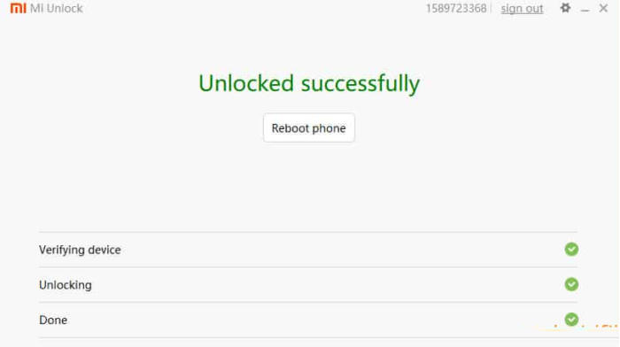 Unlocked Successfully